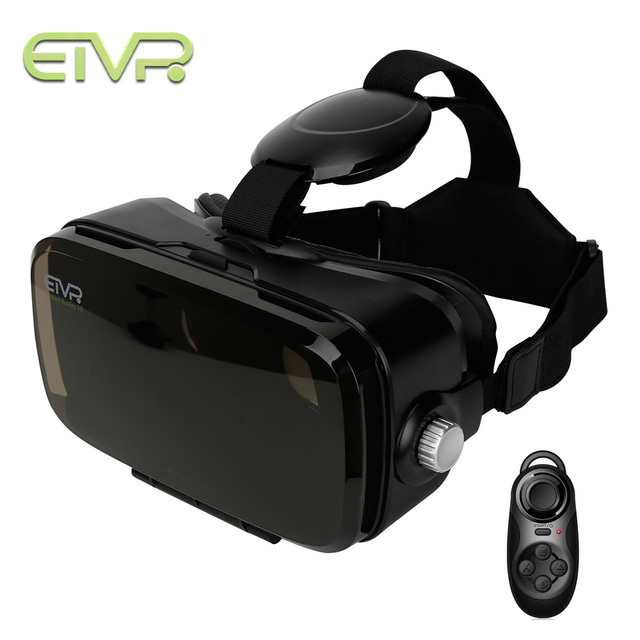 2017 Google Cardboard VR Box Virtual Reality Immersive 3D Glasses Headset For 4.7-6.2 Inch Smartphone With Bluetooth Controller