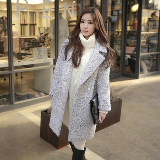 Modern Korean Winter Fashion: Winter Coat 2017 Women Korean Style Vintage Elegant Turn