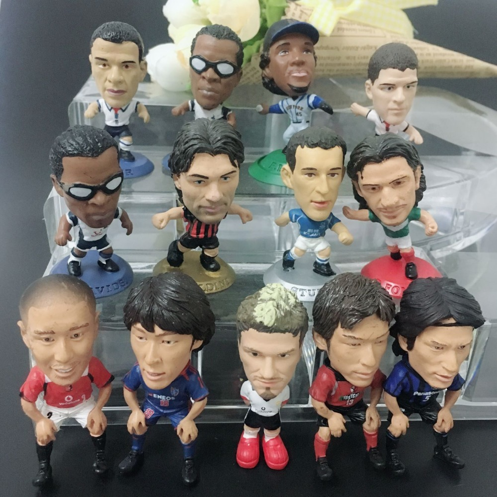 7pcs/set no repeat High quality 4.5cm football player star Action Figures Dolls football fans collection Toy Kids Gifts d11