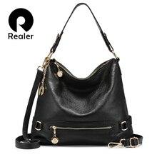 Realer women handbag high quality genuine leather crossbody