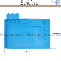 Thermal Insulation Insulation Silicone Pad Desk Mat 45 30cm Large Size With Magnetic Section For Soldering