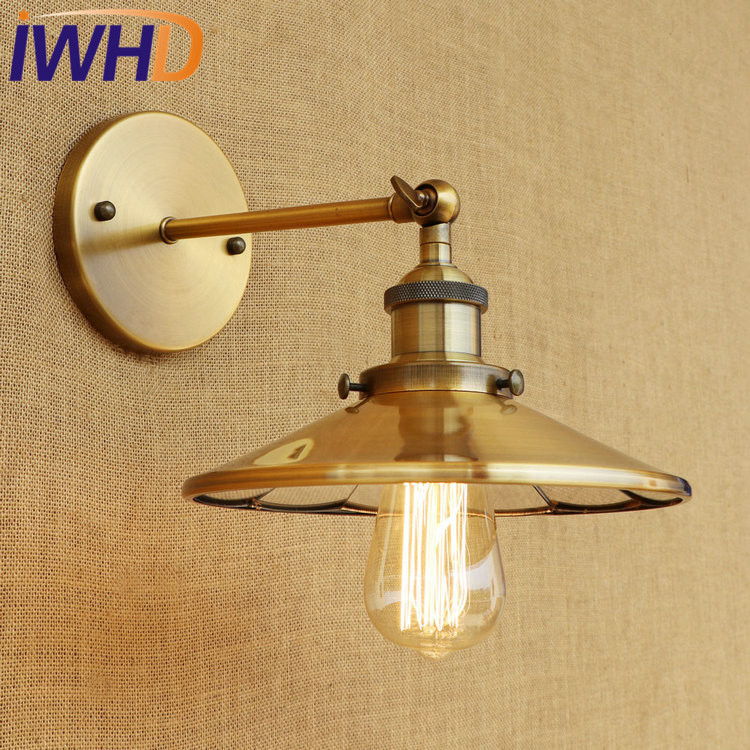 IWHD Retro Edison Wall Sconce Loft Style Industrial Vintage Wall Lamp Iron Mirror Glass Wall Light Fixtures Indoor Lighting loft style edison decorative wall sconce mirror wall light fixtures vintage industrial lighting wall lamp for home lampara