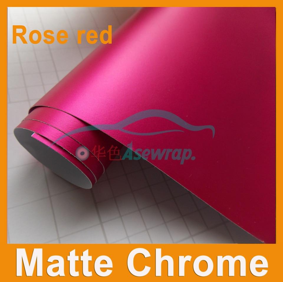 Satin métallisé mat Chrome vert vinyle pour film de protection pour voiture Wrap feuille Auto autocollants avec Drain d'air taille 1.52x20 m/Roll
