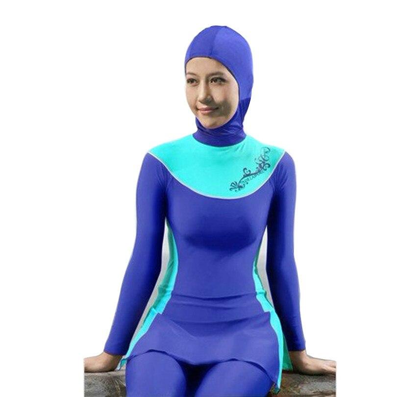 Full Coverage Muslim Islamic Conservative Swimsuit Arabian Hijab Beachwear Leopard Print Bathing Suit 4XL Plus Size