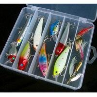 Рыбалка приманки комплект гольян VIB Поппер карандаш VIB Ложка счетчик приманки 10 шт. комплект свечения пресной ловить снасти