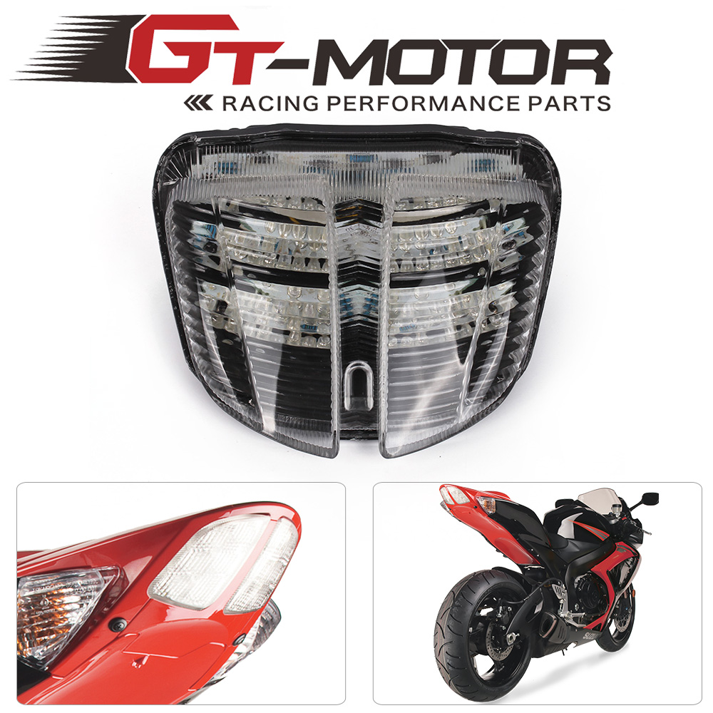 GT Motor -Motorcycle Tail Light LED Integrated Signal for SUZUKI GSX-R600 06-07 K6 GSXR600