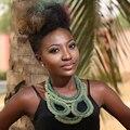 Персонализировать Дизайн Африканские Бусы Ювелирные Наборы Зеленый Смешанный Кристалл Этнической Моды Новый Дизайн Ожерелье 88