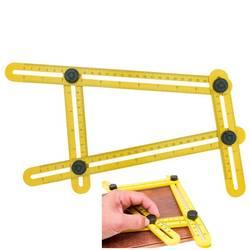 Новый Multi function Angle-Izer Ultimate плитка четырехсторонняя линейка напольное покрытие рабочий шаблон измерительный инструмент #239491