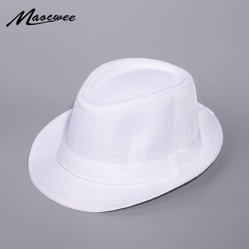 Spring And Summer White Jazz Outdoor Hat Panama Hat Women Men Ladies Fedoras Top Jazz Hat For Women Men 2019 New