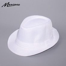 Spring And Summer White Jazz Outdoor Hat Panama Hat Women Me