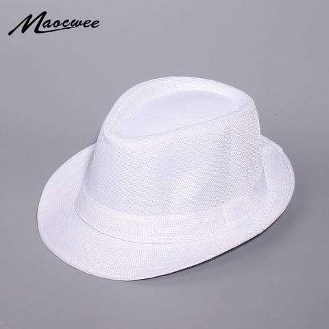Spring And Summer White Jazz Outdoor Hat Panama Hat Women Men Ladies Fedoras Top Jazz Hat For Women Men 2019 New Pakistan