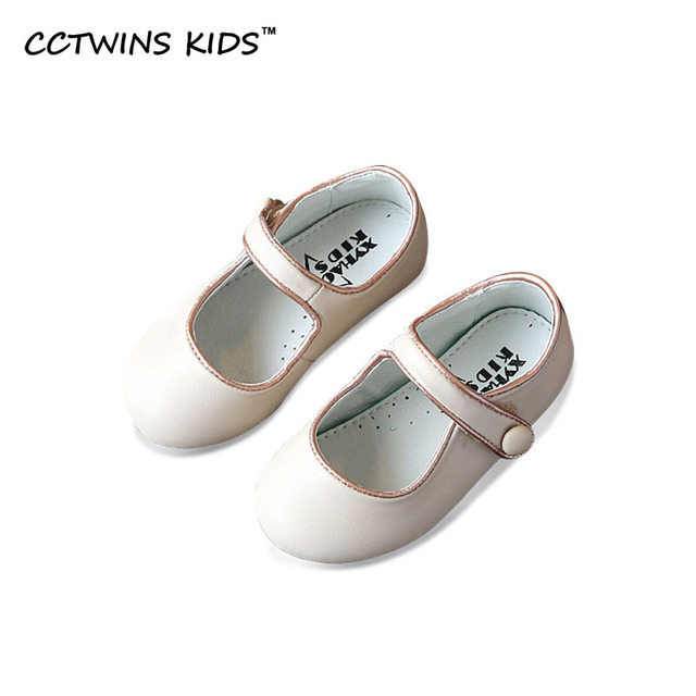CCTWINS KIDS 2017 Spring Genuine Leather Baby Fashion Child Girl Shoe Mary Jane Strap Brand Kid Pink Party Dance Flat G1037