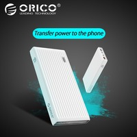 ORICO 10000 mah Power Bank QC3.0 External Battery BC1.2 Three Output 18W Max Charger For Xiaomi Huawei Samsung