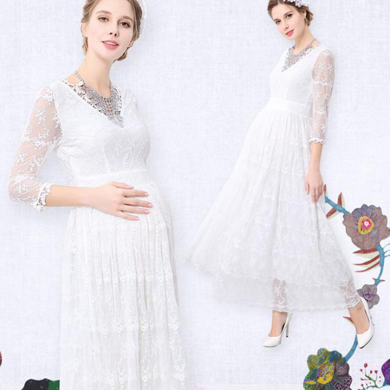 Maternity Summer Dresses Pregnancy Clothes For Photo Shoot Pregnant Dress Photography Women White Sweet Sweet Clothing 5mc027 недорого