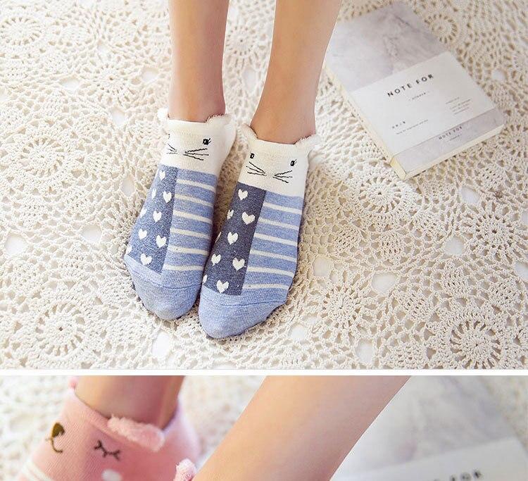 SP&CITY Cute Animal Cotton Socks Female Kawaii Cat With Dog Summer Short Socks Slippers Women Casual Soft Funny Boat Socks HTB1wI1xRpXXXXcXXXXXq6xXFXXXT