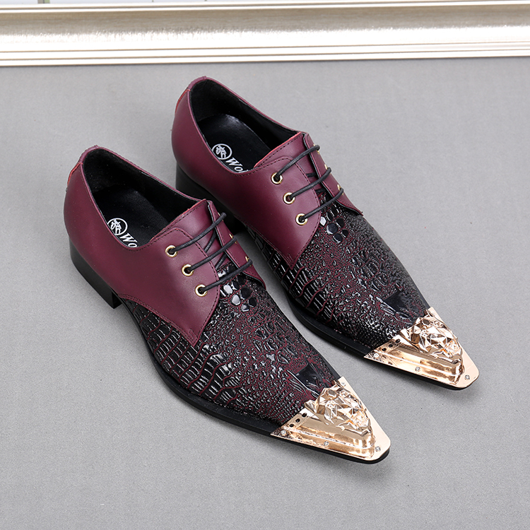 Formal Shoes Suede Leather Sapato Masculino Men Shoes Slip-on Rose Flower Male Shoes Coolsapato Masculino Flats 46 Metal Toe Chaussure Homme