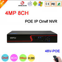 Red Panel Hi3536D Xmeye 8CH*4MP/4CH*5MP 8CH 8 Channel H.265+ 48V POE Onvif CCTV NVR Free Shipping