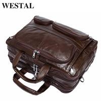 WESTAL вместительная сумка мужская натуральная кожа мужская сумка через плечо сумки мужские портфель мужской деловой кожаные портфели для до