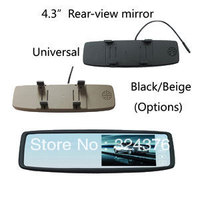 ANSHILONG Factory Sale 4.3 inch TFT LCD Car Mirror Monitor Rearview 2CH Video in Touch Button Universal Clip on Free Shipping