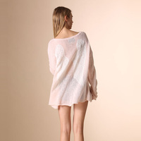 European Style Women Clothing Wildfox Brand Loose Angel Wings Sweater Pullovers Sexy Knitted Oversized Sweaters Tops