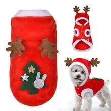 3ac883fdb16c86 Pies Boże Narodzenie Ubrania Kostium Zima Pies Kot Płaszcz Dla Małych Psów  Koty Chihuahua Yorkshire Terrier Pet Ubrania Ropa par.