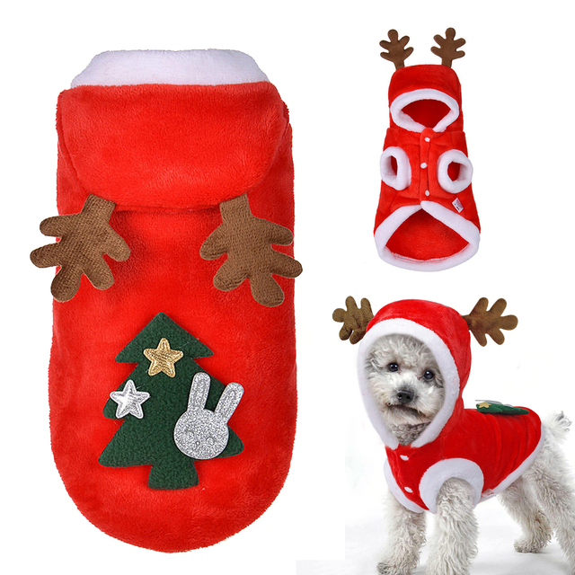 Dog Christmas Clothes Costume Winter Dog Cat Coat For Small Dogs Cats  Chihuahua Yorkshire Terrier Pet - Dog Christmas Clothes Costume Winter Dog Cat Coat For Small Dogs