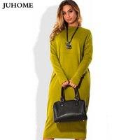 2017 otoño nuevo estilo de la india de compras en línea vestido de manga larga de invierno verde rojo vestido de dama ropa de trabajo O-cuello 6xl 5xL Tamaño arge