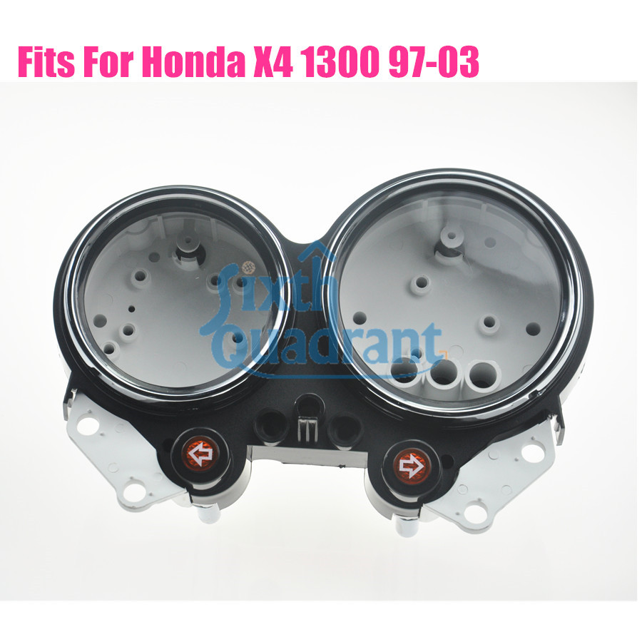 ФОТО 100% Brand New Motorcycle Speedometer Tachometer Cluster Case Cover Set for HONDA Cruiser X4 1300 97 98 99 00 01 02 03