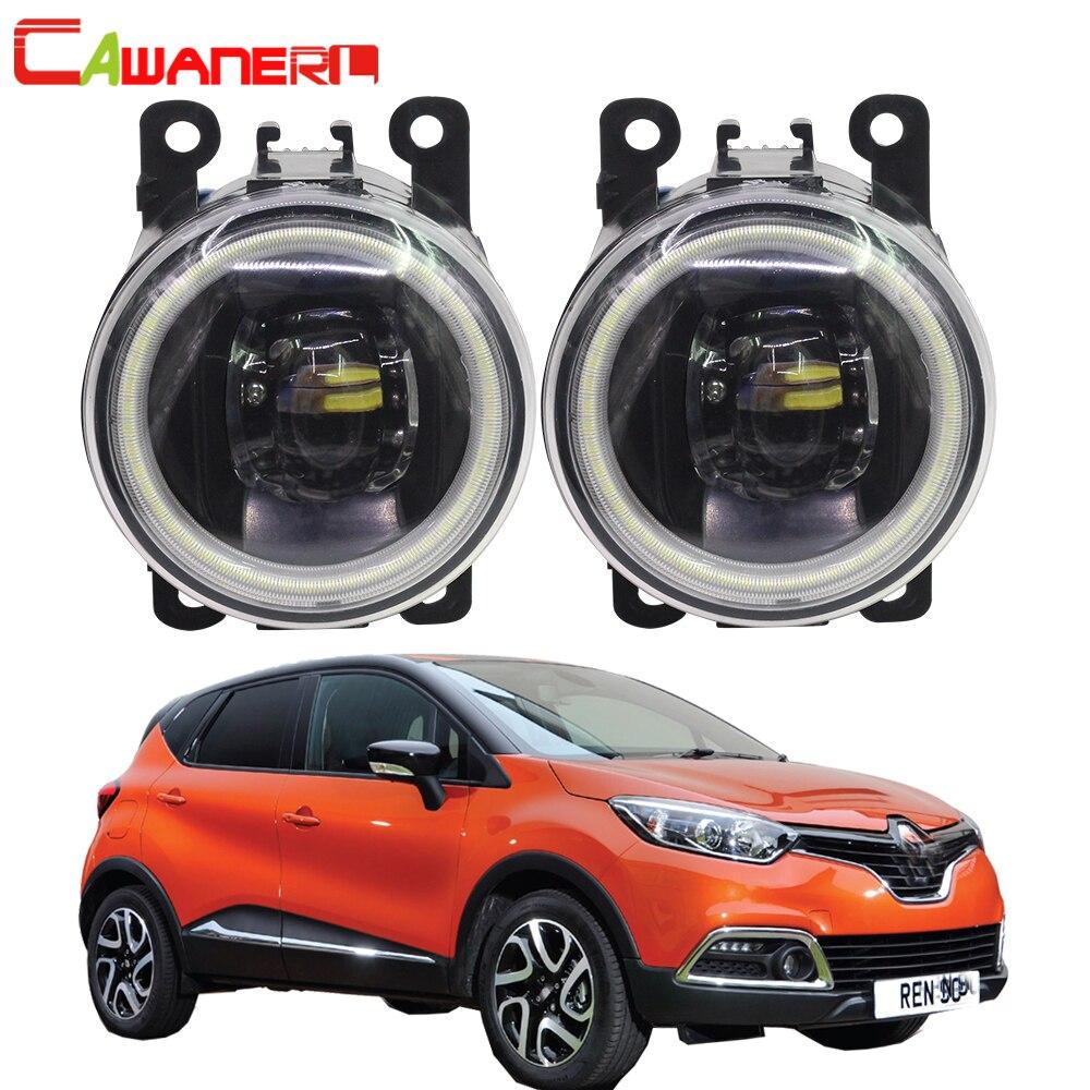 Cawanerl Car LED Lamp Fog Light Angel Eye Daytime Running Light DRL 12V For Renault Captur 2013 2014 2015 2016 2017 цена в Москве и Питере