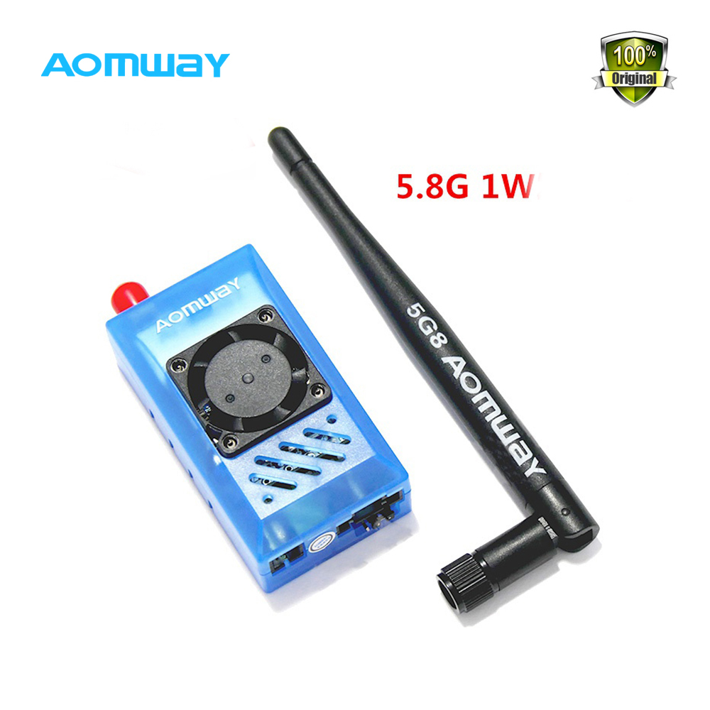 FPV Antenna Aomway 5.8G 1000mW Audio/Video AV 1W Transmitter & 5.8G Receiver w/Antenna for rc quadcopter 5 8g 1w 1000mw video audio transmitter tx 5km with 5 8ghz reciever for fpv syste