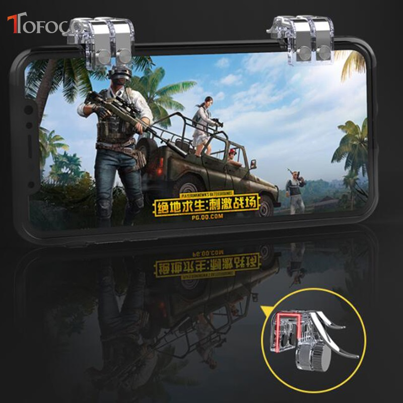 Image 5 - New R11s Gamepad PUBG Mobile Controller Trigger Control Cell Phone Gamepad L1R1 Gaming Shooter for Iphone Android Joystick-in Gamepads from Consumer Electronics