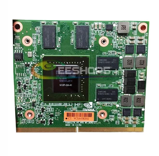 Best Original NVIDIA Quadro 2000M Q2000M for HP 8540W 8560W Laptop Graphics Video Card GDDR3 2GB MXM-A 3.0 N12P-Q3-A1 VGA Board