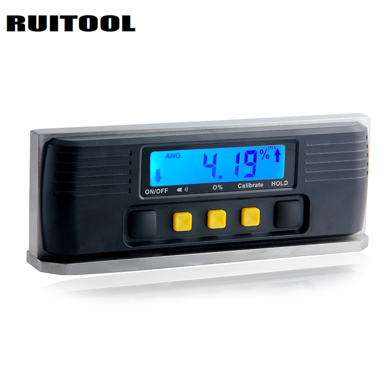 цена на RUITOOL Digital Angle Ruler Inclinometer Magnetic Stainless Steel Base Electronic Protractor Angle Meter