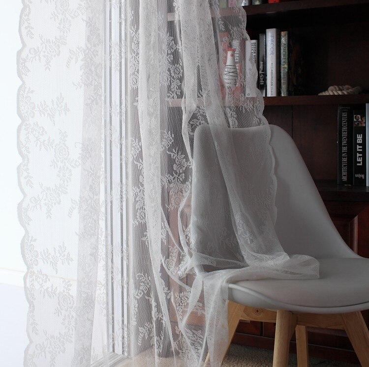 Giardino coreano pizzo prodotto finale garza ombra tende soggiorno balcone finestra usura - Tende per finestra balcone ...