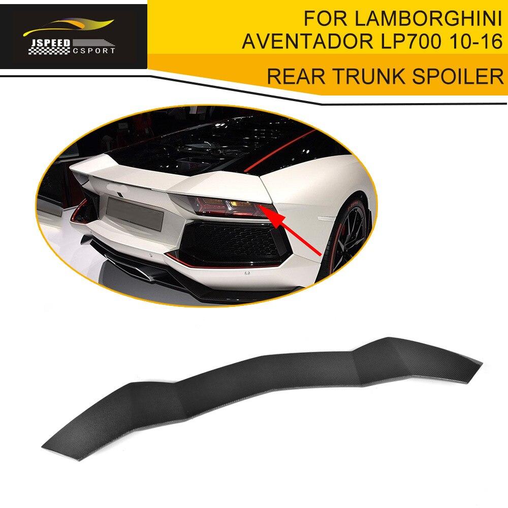 Auto Replacement Parts Exterior Parts Carbon Fiber Rear Trunk Spoiler Lip Wings Case For Lamborghini Aventador Lp700 Lp700-4 Roadster Pirelli 2010-2016 D Style