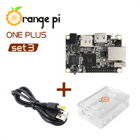 Orange Pi One Plus SET3: OPI One Plus &  ABS Transparent Case  &  Power Cable