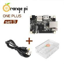 Pomarańczowy Pi One Plus SET3: OPI One Plus i ABS przezroczyste etui i kabel zasilający