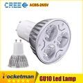 1 pcs Super Bright 9 W 12 W 15 W GU10 Lâmpadas LED Luz 110 V 220 V Dimmable Led Focos Quente/Frio Branco GU 10 base de LED downlight