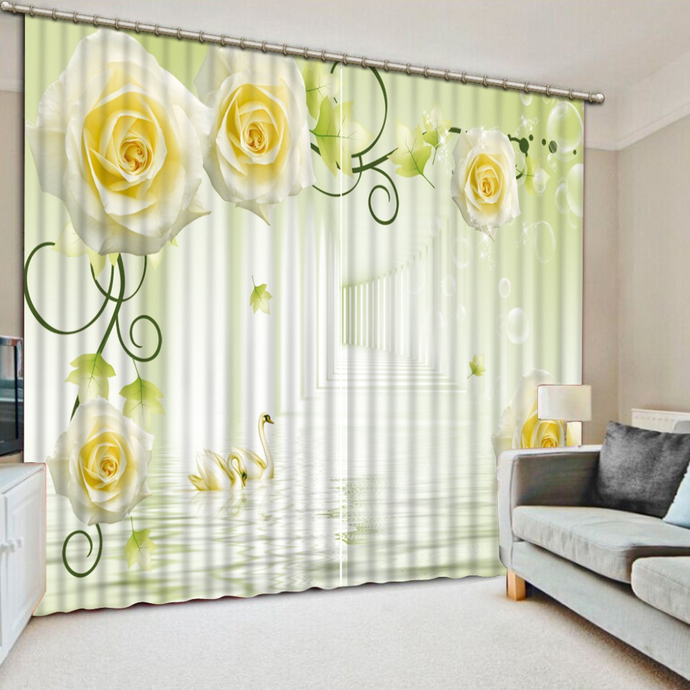 Custom made Blackout Curtains for Window Curtains For Living Room Kitchen Bedroom Kids Curtain Rose vine European style Custom made Blackout Curtains for Window Curtains For Living Room Kitchen Bedroom Kids Curtain Rose vine European style