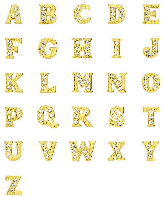Großhandel 20 Teile/los Gold Farbe Alphabet Buchstaben Wählen Von N ...