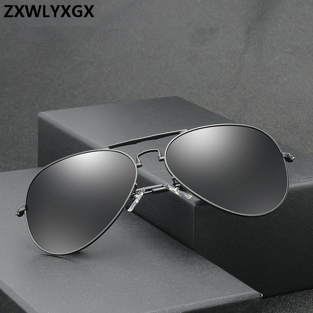 a8fbf3966e4d0 ZXWLYXGX Vintage Classic Sunglasses Women Men Brand Designer Men s Pilot  Driving UV400 Mirror Sun ...