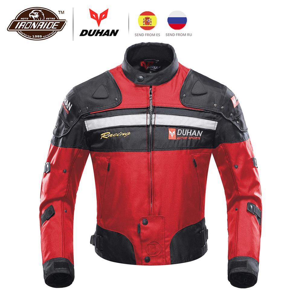 Revestimento Da Motocicleta DUHAN Jaqueta de Corrida De Moto Moto À Prova de Vento de Outono Inverno Roupas de Proteção Da Motocicleta Corpo Armadura Protetora