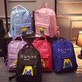 Горячая продажа 2017 новая мода ulzzang harajuku красивая девушка конфеты цвет женщин рюкзак опрятный стиль школьный сумка