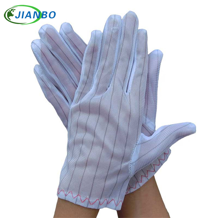 цены  Free Shipping 10 Pairs ESD White Antistatic Gloves Electronic Industrial Working Clean Dust-Proof Workshop Protection Wholesale