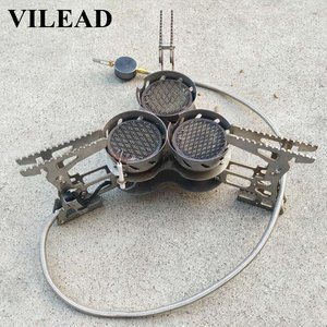 Image 2 - VILEAD 8000W Super Power Gas Burner Folding Outdoor Camping Stoves Cooking Windproof Butane Burners Portable Heater Furnace
