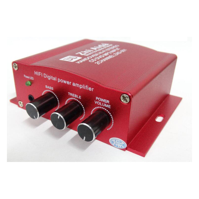 Best Price Mini Car Power Amplifier Hi-Fi 30W MP3 Radio Audio Stereo  Speaker Booster Player for Car