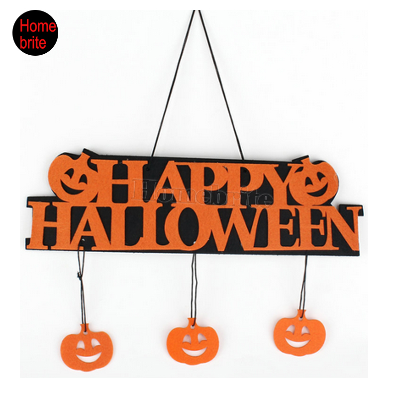 halloween decoration happy halloween hanging hangtag halloween window decoration halloween pumpkin hanging strips hw057china - Decoration Halloween