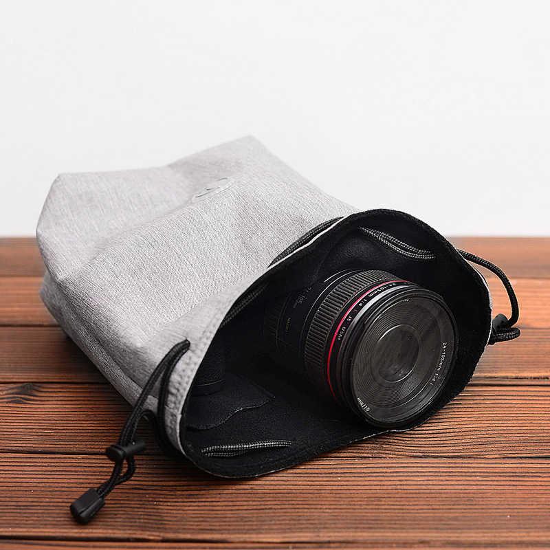 Diginal DSLR sac pour appareil photo poche souple pour Canon 5D 6D 60D Nikon D7200 D750 Sony A7 A600 J1 Fuji Olympus pour étui à lentilles Leica