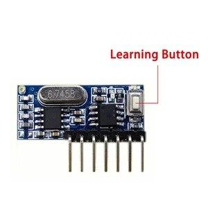 Image 2 - Receptor RF de 433 mhz Módulo Decodificador de código de aprendizaje, 433 mhz, salida inalámbrica de 4 canales, kit Diy para Control remoto, codificación 1527, 5 uds.