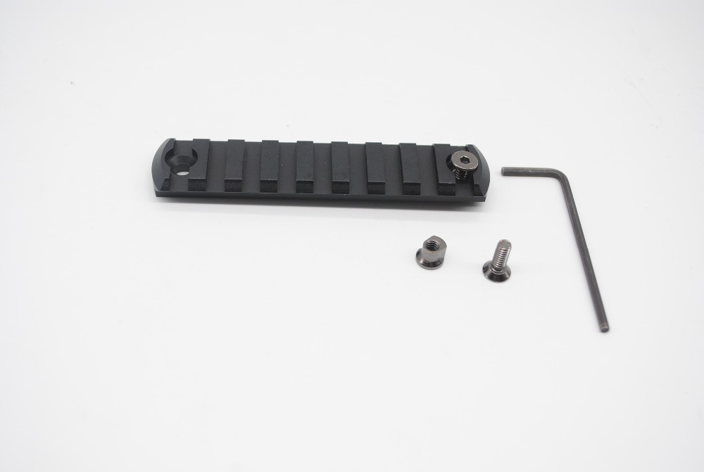 TriRock 5 7 9 11 13 slot CNC Aluminum Picatiny Weaver Rail Section For Keymod Handguard Rail Mount in Hunting Gun Accessories from Sports Entertainment